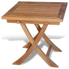 4ft square folding table goldenteak teak side square folding table view in your room