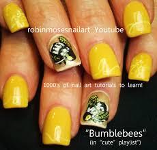 robin moses nail art bumblebee nail opi yellow indie nails