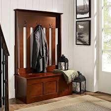 mudroom blue hall tree foyer bench and coat rack entry hall
