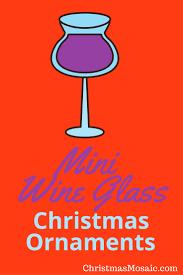 mini wine glass ornaments mosaic