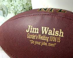 engraved football gifts personalized football ring bearer gift groomsmen and best