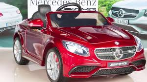 car mercedes red mercedes benz s63 ride on car kids rc car remote control electric
