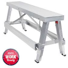 drywall bench sawhorse step ladder adjustable height workbench