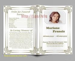 memorial service program unique free memorial service program template publisher free