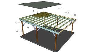 carport building plans flat roof double carport plans howtospecialist how to build