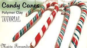 polymer clay candy canes christmas tree decorations tutorial