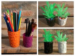 diy mini plant and holder room decor and organizer recycle