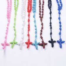 knotted rosary colors woven knotted rosary cheap rosary factory buy