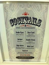 casino night cocktails menu by fresh baked designs on etsy party