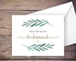 bridesmaid cards bridesmaid cards etsy