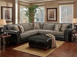 studded leather sectional sofa black studded sectional w floral pillows decor styles i love