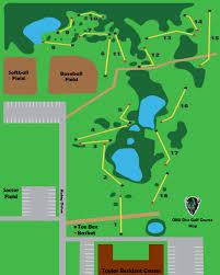 Shawnee Map Disc Golf Map Oklahoma Baptist University