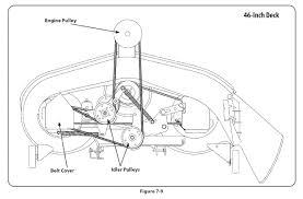 murray lawn mower belt diagram 46 inch