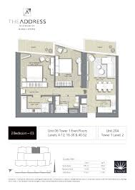 floor plans by address address residence dubai opera tower 1 floor plans