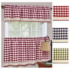 Kitchen Tier Curtains Buffalo Gingham Check Kitchen Tier Curtains