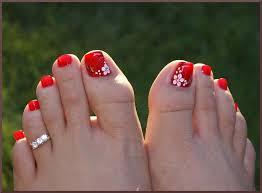simple flower toe nail art nail toenail designs art