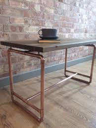 Industrial Rustic Coffee Table Coffe Table Bespoke Rustic Industrial Handmade Pine And Copper
