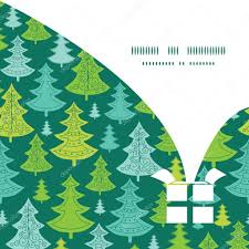vector holiday christmas trees christmas gift box silhouette