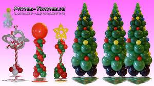 balloon christmas tree column decoration ballon weihnachtsbaum