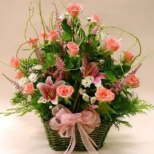 basket of flowers flowers flower basket basket of roses mixed flowers basket
