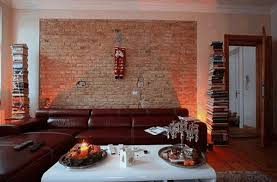 rooms with brick walls classic white fireplace dark brown metal