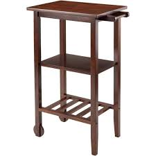 Kitchen Cart Table by Winsome Stevenson Kitchen Cart Walnut Walmart Com