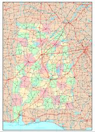 County Map Of Alabama Alabama Political Map