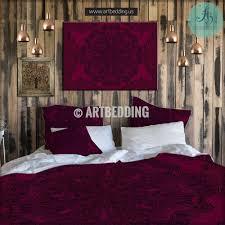 mandala bedding personalized bohemian mandala bedding sets bohemian bedding burgundy red black gothic mandala duvet cover set lace mandala duvet