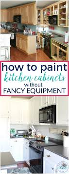 no prep kitchen cabinet paint how to paint kitchen cabinets without fancy equipment