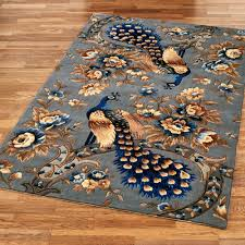 Peacock Area Rugs Majestic Peacock Slate Gray Area Rugs