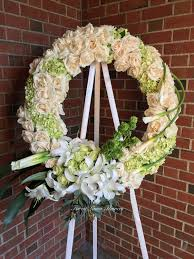 hydrangea wreath white and green hydrangea wreath forest lawn flowers in