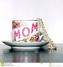 mother u0027s day tea cup pearls sq stock images image 4592194