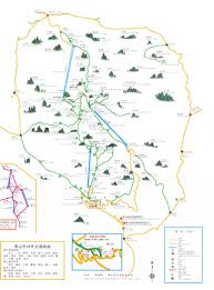China Peak Map by Map Of Yellow Mountain China Attraction Map Guide China Province