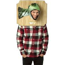 trophy head bass halloween costume one size walmart com