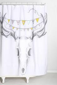 Skull Shower Curtain Hooks Halloween Skeleton Shower Curtain Home Design And Decoration