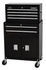 26 inch high cabinet husky 26 inch w 6 drawer tool chest cabinet combo the home depot