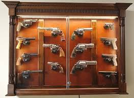 Ornate Display Cabinets Pistol Display Case