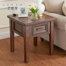 rustic wood side table american wood side a few rustic small apartment sofa corner simple