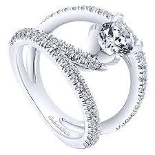 jewelry rings unique images Twisted wide split shank unique diamond engagement ring mullen jpg