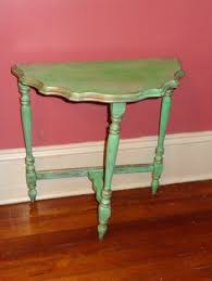 Half Moon Side Table Painted Console Table Step Guide Moon Table And Half Moon Table