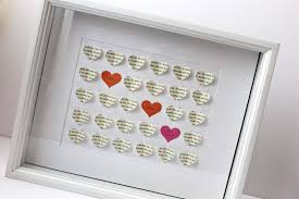 wedding gift photo frame 3 d heart shadow box wedding gift tutorial smashed peas carrots