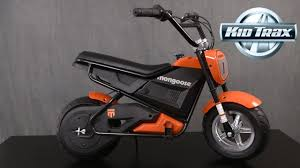 mongoose mgx 250 rechargeable electric motorbike from kidtrax