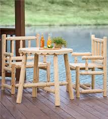 Folding Bistro Table And 2 Chairs Rustic Log Style Bistro Table And 2 Chairs Collection Accessories