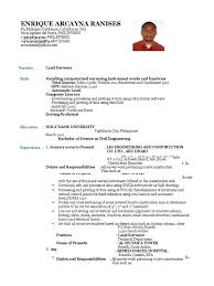 Resume Format Pdf For Civil Engineering by Duties Of A Civil Engineer Letter Template Open Office Web