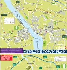 Map Of Dublin Ireland Street Map Of Athlone