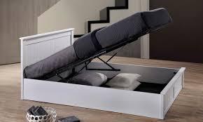 wooden ottoman storage bed groupon goods