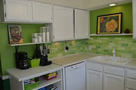 green kitchen backsplash tile home design ideas