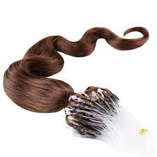 micro loop hair extensions micro loop hair extensions 100 remy hair wave 4 chocolate
