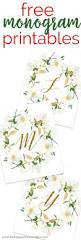 Monogram Letters Home Decor by Best 25 Printable Monogram Ideas On Pinterest Free Printable