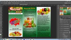 cara membuat brosur makanan cara membuat brosur promosi lipat tiga dengan photoshop youtube